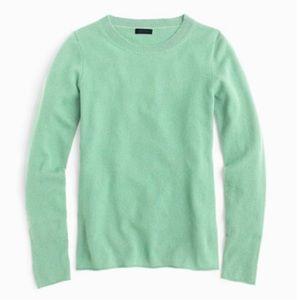 J.Crew Cashmere Crewneck Sweater in Mint